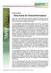 Rote Karte fuer Falschinformationen